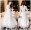 เสื้อผ้าแฟชั่นเกาหลี Lady Ribbon Thailand Lady Ribbon's Made Lady Pat Sweet and Classic Off-White Lace Dress thumbnail 3