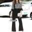 เสื้อผ้าแฟชั่นเกาหลี Lady Ribbon Thailand Korea Design By Lavida Fashionable striped printing jumpsuit code1814 thumbnail 2