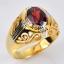 แหวนทองแท้ ประดับพลอยโกเมน thumbnail 2