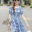เสื้อผ้าแฟชั่นเกาหลี Lady Ribbon Thailand Normal Ally Present D&G New collection 2018 dress thumbnail 2