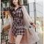 เสื้อผ้าแฟชั่นเกาหลี Lady Ribbon Thailand Lady Ribbon's Made Lady Rachel Ribbon Twist Tartan Wool Shirt Dress thumbnail 2