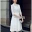 เสื้อผ้าแฟชั่นเกาหลี Lady Ribbon Thailand Lady Ribbon's Made Lady Maleeya Laser-Cut and Embroidered White Cotton thumbnail 2
