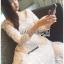 เสื้อผ้าแฟชั่นเกาหลี Lady Ribbon's Made Lady Matilda Flower Embroidered Champagne Lace Dress thumbnail 3