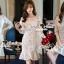 Seoul Secret Say's... Princess Ladiest Ivory Lace Dress thumbnail 4