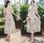เสื้อผ้าแฟชั่นเกาหลี Lady Ribbon Thailand Lady Marie Fancy Flower Blossom Lace Maxi Dress thumbnail 4
