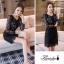 เสื้อผ้าแฟชั่นเกาหลี Lady Ribbon Thailand Korea Design By Lavida Blossom printing long sleeve dress thumbnail 6