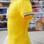 เสื้อโปโลสำเร็จรูป สีเหลือง ขลิบปกน้ำเงินเข้ม thumbnail 5