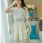 เสื้อผ้าแฟชั่นเกาหลี Lady Ribbon's Made Lady Suzie Sweet Vintage Asymmetric Lace Dress thumbnail 1