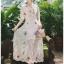 เสื้อผ้าแฟชั่นเกาหลี Lady Ribbon Thailand Lady Marie Fancy Flower Blossom Lace Maxi Dress thumbnail 2