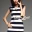 Seoul Secret Say's... Stripy chic chilly dress thumbnail 4