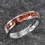 แหวนสลักชื่อ ฝังพลอยบุษราคัมแท้ ตัวเรือนทองคำขาวแท้ สามารถเลือกพลอยได้ thumbnail 2