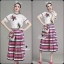 Korea Design By Lavida bug embroidered white premium lace top colorful skirt set cod727 thumbnail 5