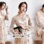 เสื้อผ้าแฟชั่นเกาหลี Lady Ribbon Thailand Seoul Secret Say'...Korea Style Minidress Tulle Department&Cream Embroidery Fancy thumbnail 3