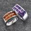 แหวนคู่รักสลักชื่อ ฝังพลอยแท้ ตัวเรือนทองคำขาวแท้ สามารถเลือกพลอยได้ thumbnail 1