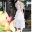 เสื้อผ้าแฟชั่นเกาหลี Lady Ribbon Thailand Lady Ribbon's Made Lady Ellie Fancy Ruffle White Lace Dress thumbnail 3