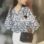 Seoul Secret Say's... Navy Daisy Perforate Blouse thumbnail 10