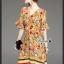 เสื้อผ้าแฟชั่นเกาหลี Lady Ribbon Thailand Korea Design By Lavida Colorful floral printing v neck dress thumbnail 6