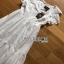 เสื้อผ้าแฟชั่นเกาหลี Lady Ribbon Thailand Lady Ribbon's Made Lady Hannah Flower Laser-Cut and Embroidered Ruffle Cotton Long Dress thumbnail 5