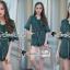 เสื้อผ้าแฟชั่นเกาหลี Seoul Secret Say's... Whiffle Rim Lace Murky Color Playsuit thumbnail 1