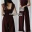 เสื้อผ้าแฟชั่นเกาหลี Lady Ribbon Thailand Lady Ribbon's Made Lady Veronica Feminine Chic Lace & Crepe Jumpsuit thumbnail 6