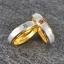 แหวนคู่รักสลักชือ ฝังพลอยแท้ แหวนเงินแท้ 925 ชุบ2กษัตริย์ สามารถเลือกพลอยได้ thumbnail 1