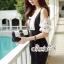 เสื้อผ้าแฟชั่นเกาหลี Lady Ribbon Thailand Seoul Secret Say'...Minidress Lady Amira Feminine Polka Heart pattern Chiffon Crepe Dress thumbnail 2