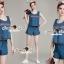 Seoul Secret Say's... Lady Lasso Line Furnish Denim Set thumbnail 1