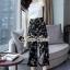 เสื้อผ้าแฟชั่นเกาหลี Lady Ribbon Thailand Seoul Secret Say's... Blossom Pants Chic Line Belt Collar thumbnail 1