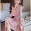 เสื้อผ้าแฟชั่นเกาหลี Lady Ribbon Thailand Lady Ribbon's Made Lady Carolina Cut-Out Ruffle Baby Pink Dress thumbnail 2