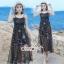 เสื้อผ้าแฟชั่นเกาหลี Lady Ribbon Thailand Seoul Secret Say's ...White Line Dress With Black Fancy Stripes thumbnail 5