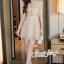เสื้อผ้าแฟชั่นเกาหลี Lady Ribbon Thailand Seoul Secret Say'...Gold Minidress Lace Embroidery Design expensive thumbnail 1