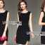 เสื้อผ้าแฟชั่นเกาหลี Lady Ribbon Thailand Lady Ribbon's Made Lady Minimal Chic Side-Belt Little Black Dress thumbnail 4