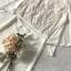 เสื้อผ้าแฟชั่นเกาหลี Lady Ribbon Thailand Seoul Secret Say'...Glass cloth Embroidery Lace Sleeve design White Set thumbnail 5