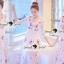 Seoul Secret Say's... Salmon Pink Blossom Summer Maxi Dress thumbnail 7