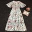 เสื้อผ้าแฟชั่นเกาหลี Lady Ribbon Thailand Korea Design By Lavida Aristocrat blossom printed maxi dress code3008 thumbnail 4