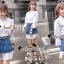เสื้อผ้าแฟชั่นเกาหลี Seoul Secret Say's... Gemmy Denim Skirt ShirtDresss Set thumbnail 1