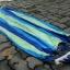 เปลญวนนอนผ้าสลับสีขอบไม้สีขาวอ่อน (ห่วงแขวนแข็งแรง) thumbnail 3