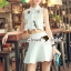 Seoul Secret Say's... Chiffon Lace Cami Shirt Skirt Set thumbnail 9