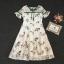 เสื้อผ้าแฟชั่นเกาหลี Lady Ribbon Thailand Korea Design By Lavida Floral lace short sleeve dress thumbnail 4