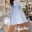 เสื้อผ้าแฟชั่นเกาหลี Lady Ribbon Thailand Seoul Secret Say'...Erin Off Shoulder Breakdown Flower Pattern Dress thumbnail 2