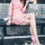 เสื้อผ้าแฟชั่นเกาหลี Lady Ribbon Thailand Seoul Secret Say'...T-Shirt Cotton Pink Peat Tie Rib Cage Chic Chic thumbnail 3