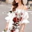 Seoul Secret Say's... Valent Rosey Smokking Dress thumbnail 4