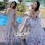 เสื้อผ้าแฟชั่นเกาหลี Lady Ribbon Thailand Seoul Secret Say's ...White Line Dress With Black Fancy Stripes thumbnail 2