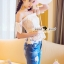Seoul Secret Say's... Smoking Daisy Bowy Open Shoulder Blouse thumbnail 8