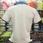 เสื้อโปโล น้ำเงินฟ้า-สไลท์2 หลังขาว เนื้อผ้า TC ทรงสปอร์ตทั้งชายหญิง thumbnail 3