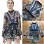 เสื้อผ้าแฟชั่นเกาหลี Lady Ribbon's Made Three Floor Orchid Playsuit thumbnail 7