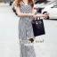 Seoul Secret Say's... Nifty Stripy Bowwy Waist Playsuit thumbnail 3