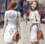 เสื้อผ้าแฟชั่นเกาหลี Lady Ribbon's Made Lady Serena Smart Feminine Embroidered Cotton Dress thumbnail 6