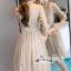 เสื้อผ้าแฟชั่นเกาหลี Lady Ribbon Thailand Seoul Secret Say'...T-Shirt Lace Dress Style Korea Classic Design thumbnail 3