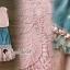 Seoul Secret Say's... Pinky Pleat Net Frienge Denim Skirt Lace Tops Set thumbnail 5